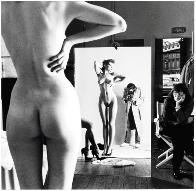 Helmut Newton, Selfie with Wife and Models, 1980