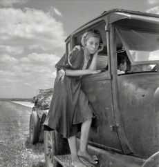 "June 1937. ""Child of Texas migrant family who follow the cotton crop."""
