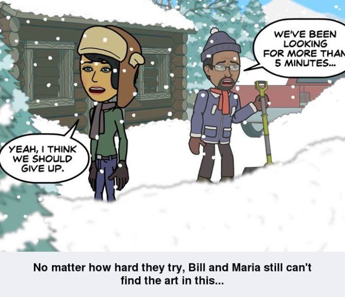 Bill and Bess in the snow