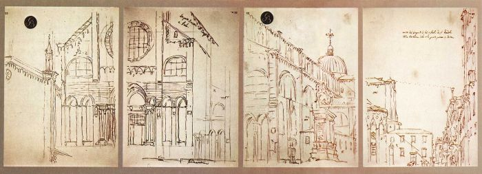 A sketch from use of a Camera Obscura, by Canaletto