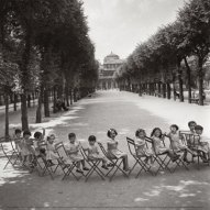 "Doisneau, ""Children in the palais royal garden,"" ca 1950"