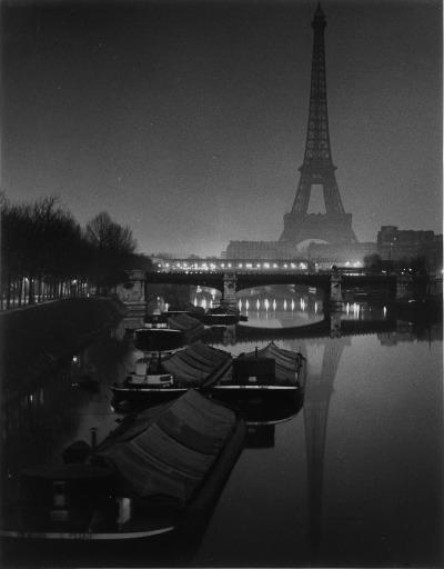 """Brassaï, """"The Eiffel Tower at Twilight, 1932"""