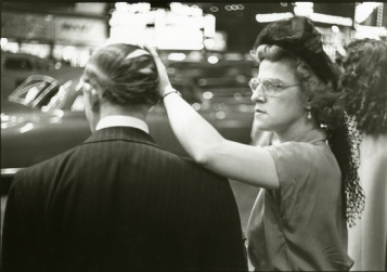 "Copyright Louis Faurer, ""Comb Over,"" NYC, 1949"