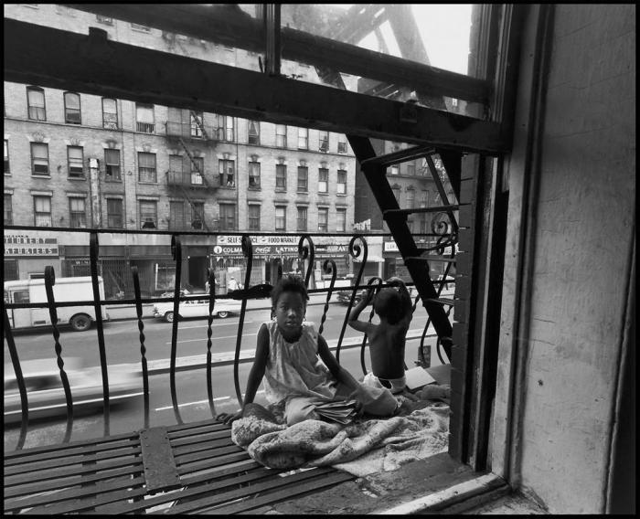 NYC. East 100th Street, Spanish Harlem.