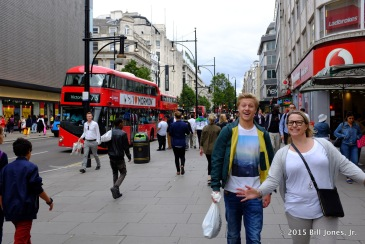 Friendly Londoners on Oxford Street
