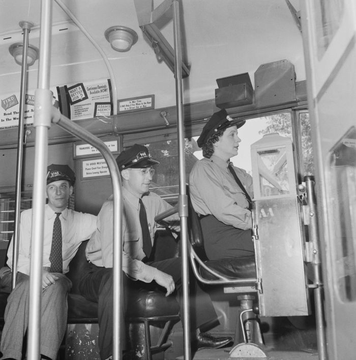 Female Bus Driver, Capital Transit Company, Washington, DC, June 1943, Esther Bubley