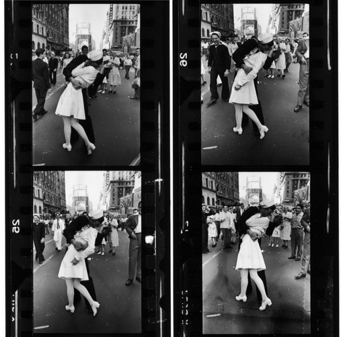 Eisenstaedt's contact sheet