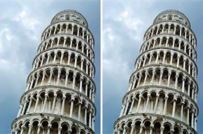 These are the two copies of the same photo. Your brain is making you think they aren't.