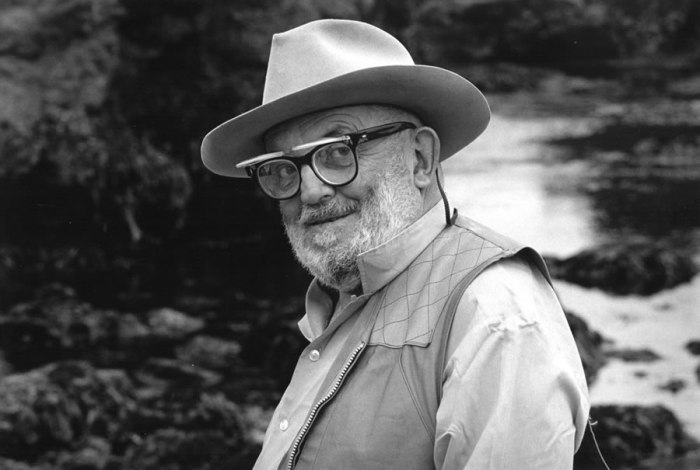 Portrait of Ansel Adams at Point Lobos by Martha Casanave