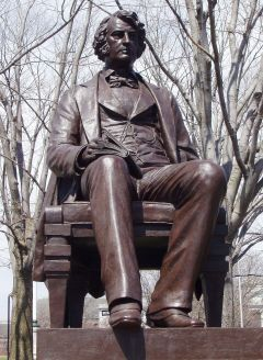 """Charles Sumner,"" 1902, Harvard Square, Cambridge, Massachussets"